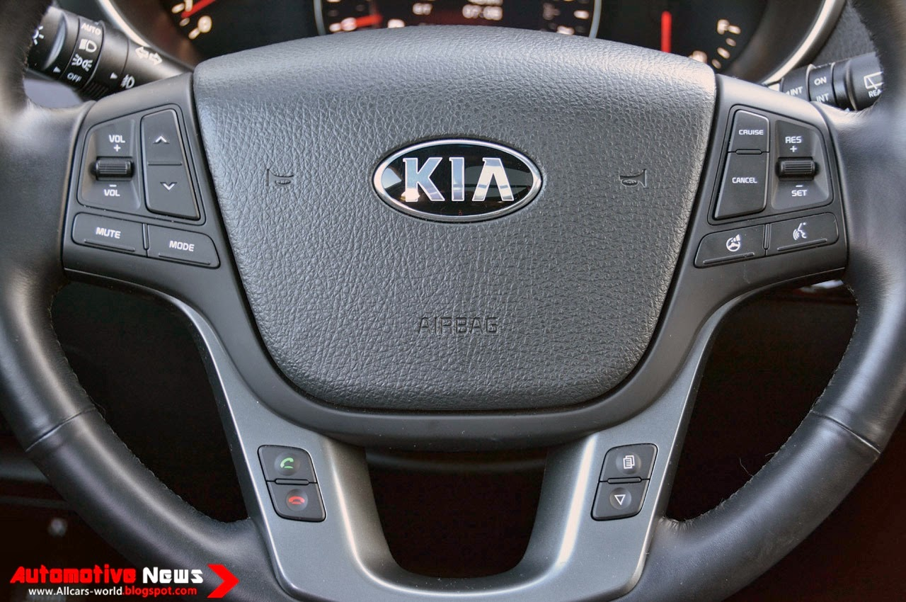 To entice buyers kia adds technology upgrades to the 2014 sorento electric steering is standard this year offering driver controlled flex steer settings