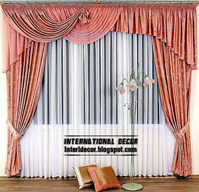 Classic curtains pink fashion types of curtains for window coverings