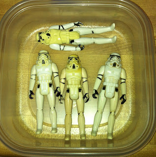 "Vintage Stormtrooper Gentle Giant Kenner 12"" Bootleg Black Hole Trooper Chinese Super 7 Legacy Saga TAC 30th Anniversary Collection Vintage Original Restoration Yellowed Whitening 3.75"" HONG KONG CHINA MEXICO GLASSLITE"