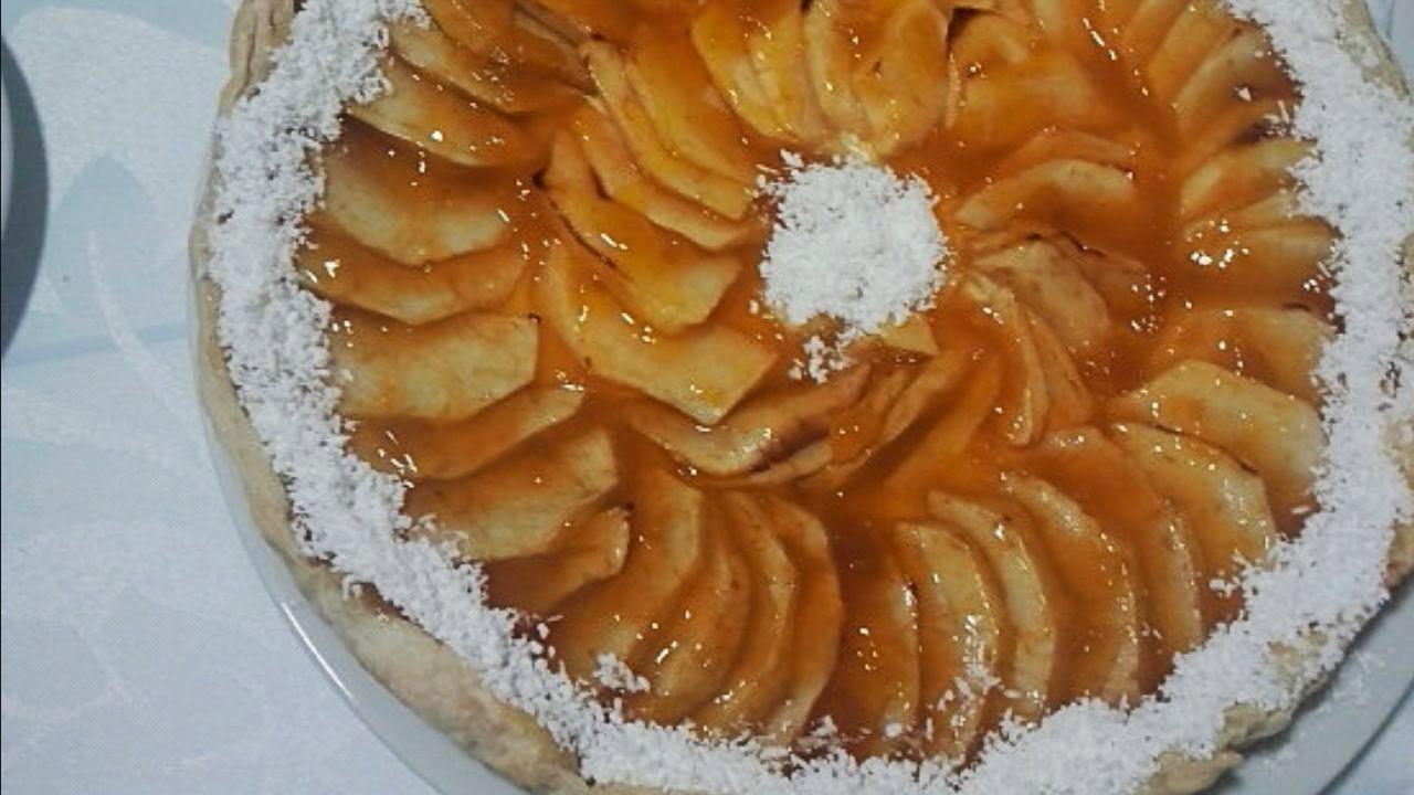 Tarta de manzana de hojaldre y crema pastelera, tarta de manzana, tarta de hojaldre, crema pastelera