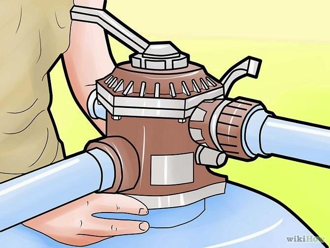 """Cara mengganti tangki filter pasir  di kolam renang """"gambar 7"""""""
