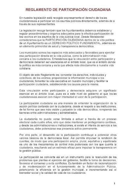 Reglamento participación ciudadana