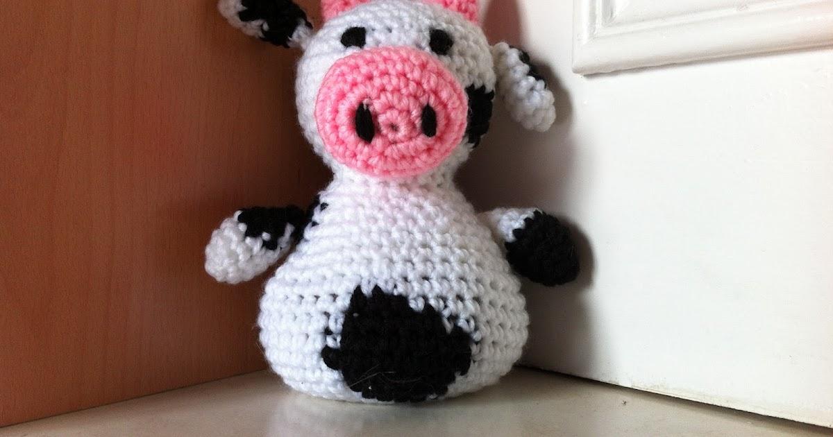 Hacer Vaca Amigurumi : Mi mundo y Punto: Vaca sujetapuertas de Amigurumi