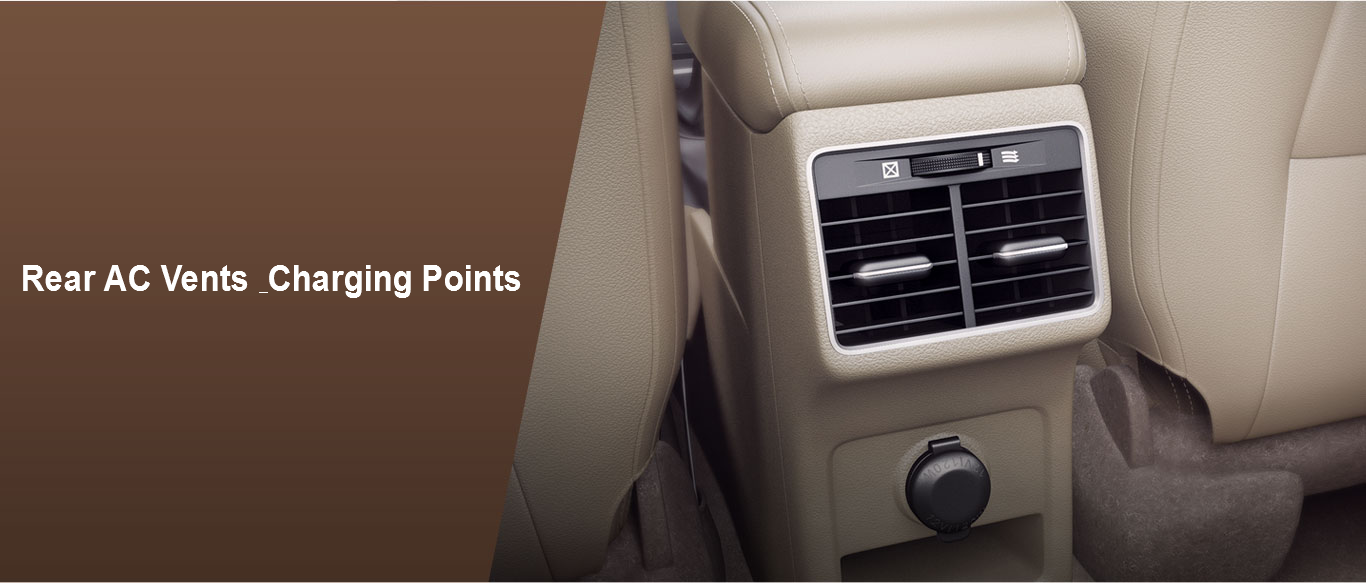 Rear AC Vents & Charging Points