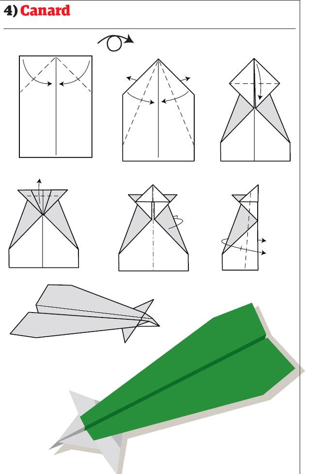 бумажный самолетик 11