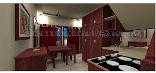 dapur dan ruang makan mungil minimalis