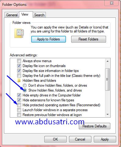 cara menghilangkan virus shortcut secara permanen