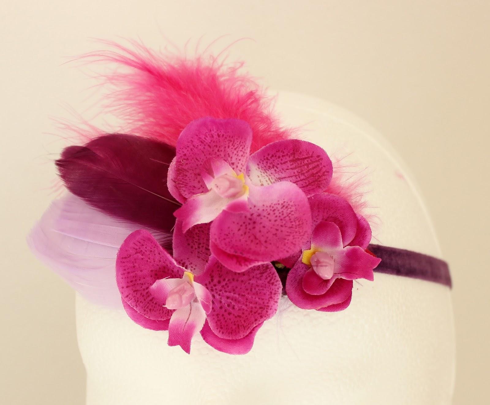 Colección Orquídea - Banda elástica estrecha fucsia