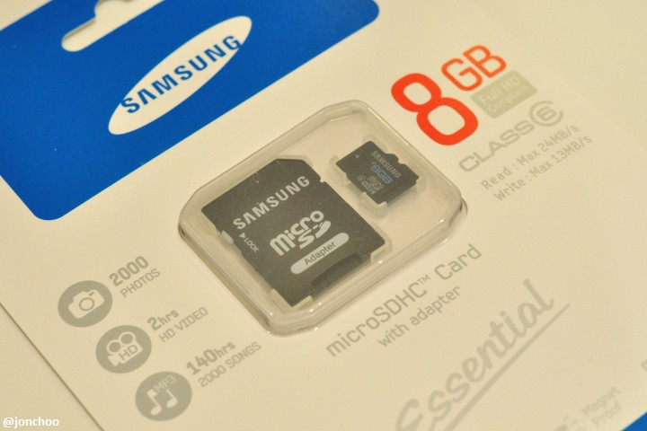 Samsung Essential microSDHC card review