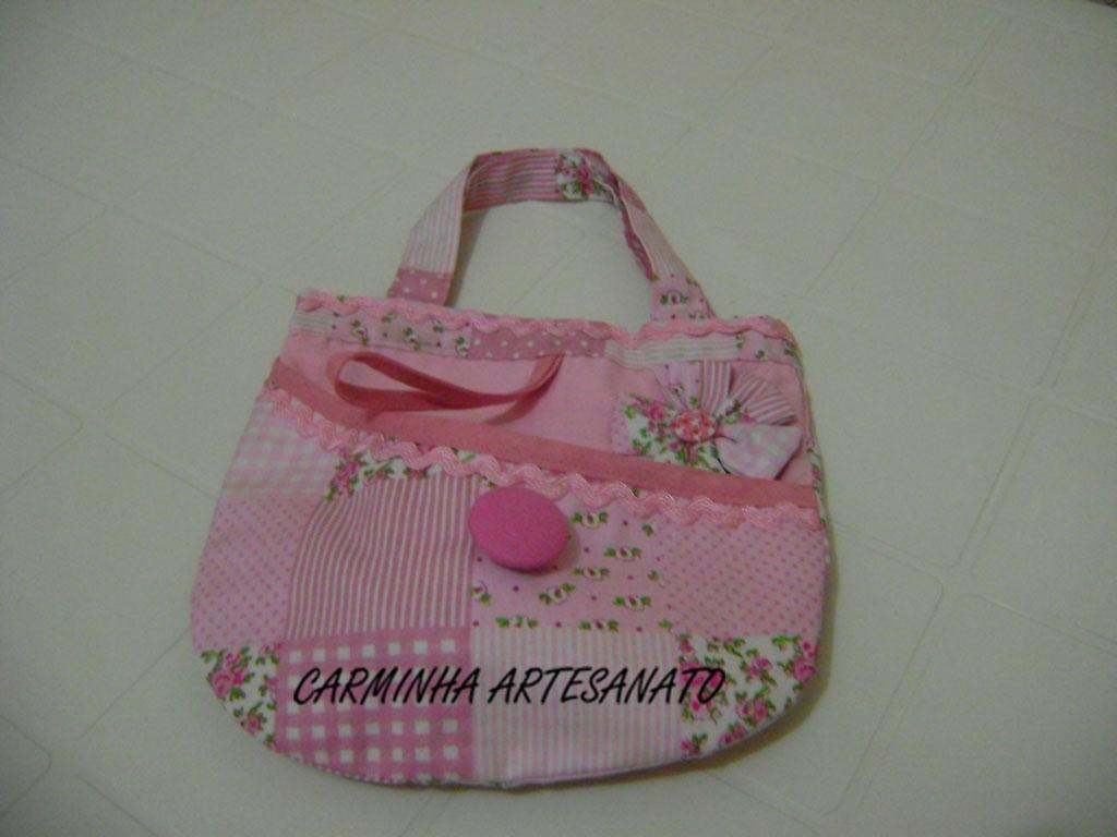 Bolsa Em Tecido Infantil : Carminha artesanato bolsa infantil em tecido