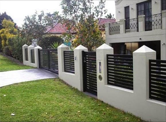 tinggi ideal pagar rumah majalah rumah
