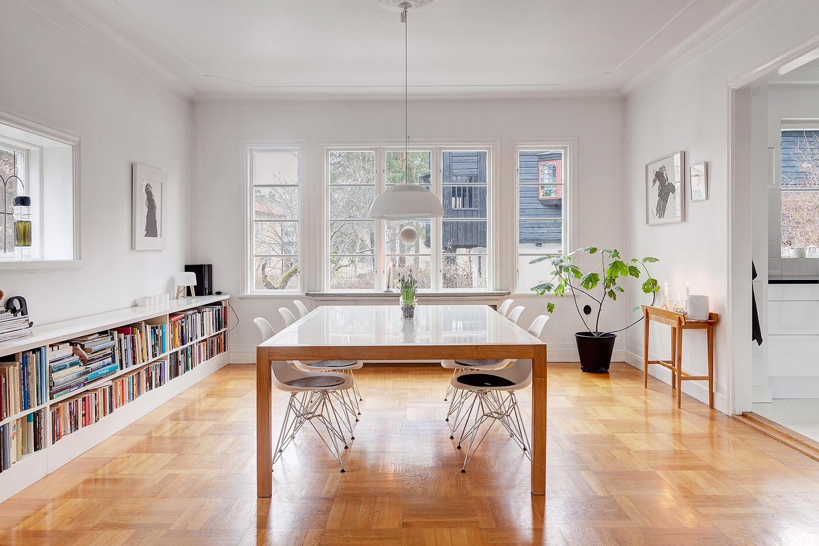 My scandinavian home: a lovely white and grey stockholm home