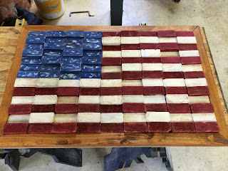 diy scrap wood flag