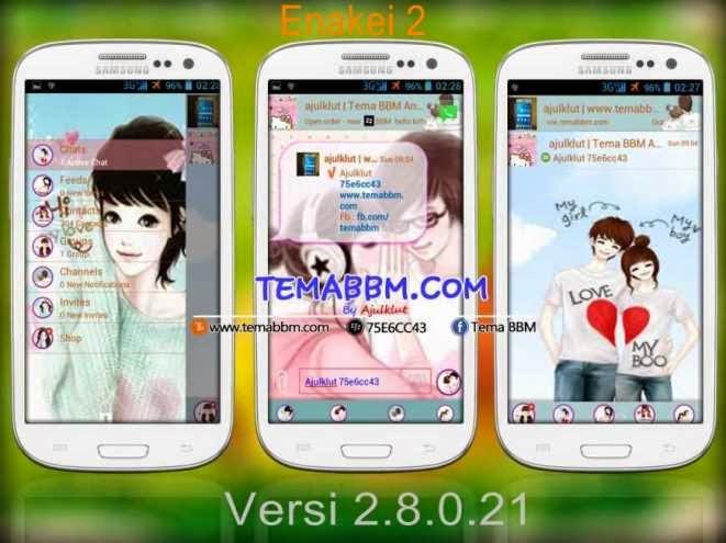 Tema BBM Enakei Versi 2.8.0.21