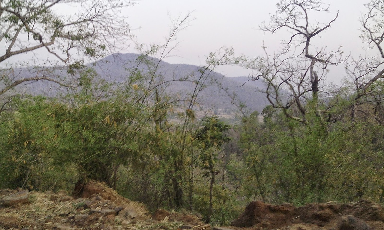 satpura hill from bike