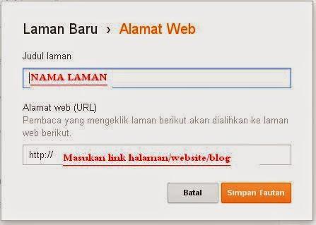 Cara menambah halaman menu di blogger
