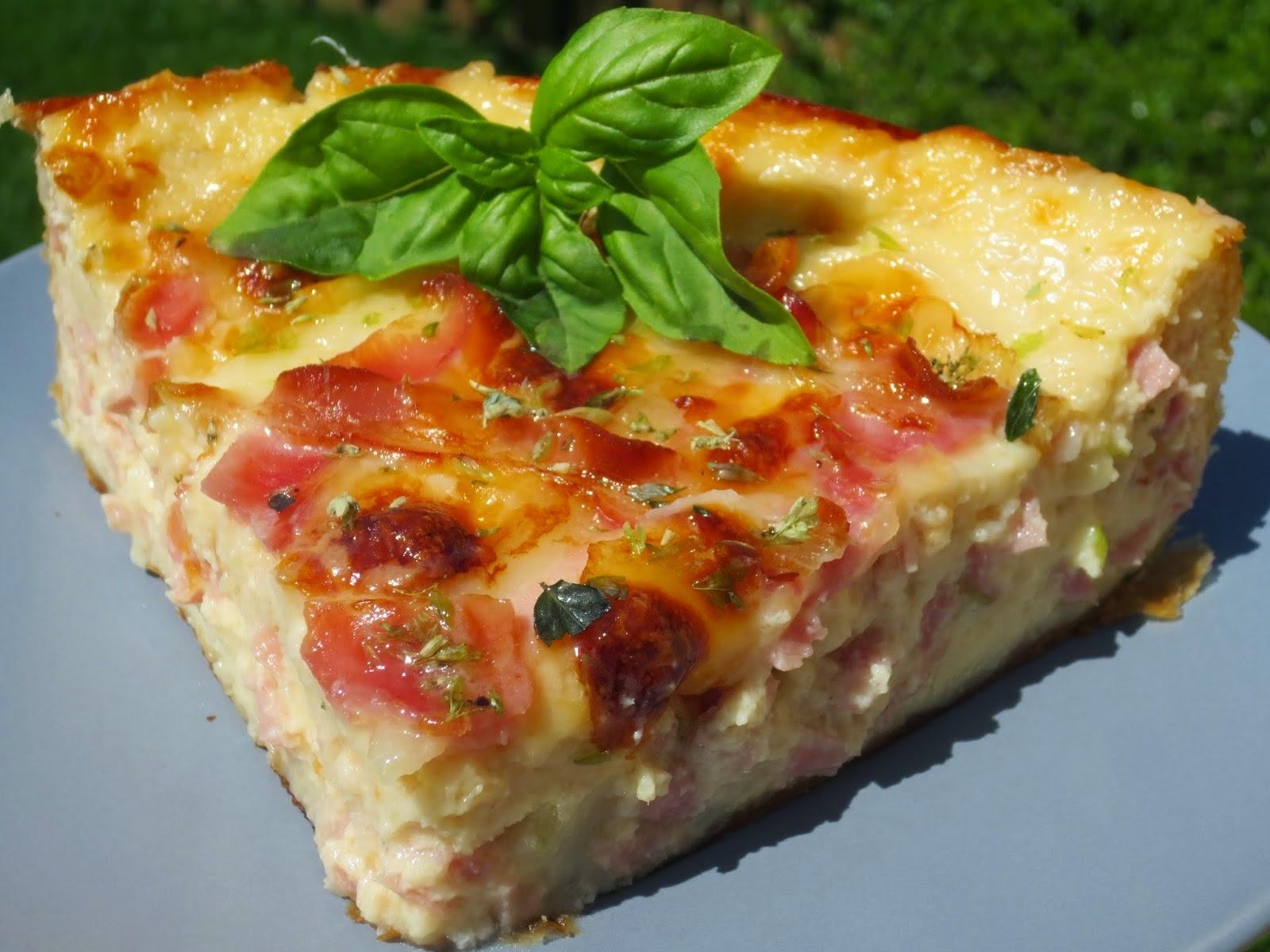 Quiche de croque-pizza Ana Sevilla cocina tradicional