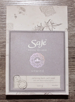 Saje Wellness Unwind Calming Bath Salt Soak