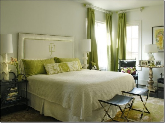 50 gorgeous green and white bedrooms for Bedroom ideas green