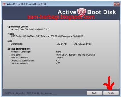 Cara menjalankan active@ Boot Disk dari Flash disk atau CD/DVD