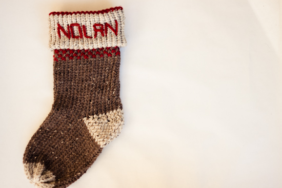 Knitting Loom Christmas Stocking Pattern : Strawberry Chic: DIY Tuesday: Easy Handmade Stocking