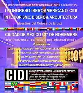 PRIMER CONGRESO CIDI DE INTERIORISMO, DISEÑO & ARQUITECTURA 2014