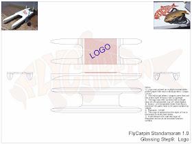 Standamaran SUP Plans Glassing Step 9 (Final)
