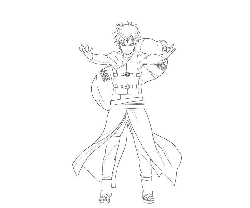 gaara coloring pages - photo#2