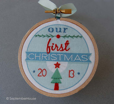 our first christmas wedding keepsake ornament