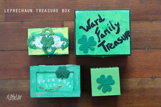 Leprechaun treasure chest tradition.  Everyday Magic blog.