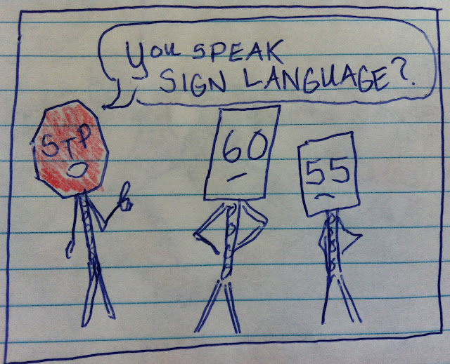 speaking sign language