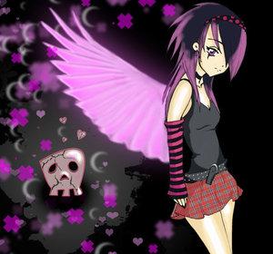 preciosa chica emo con alas rosas imagenes y carteles