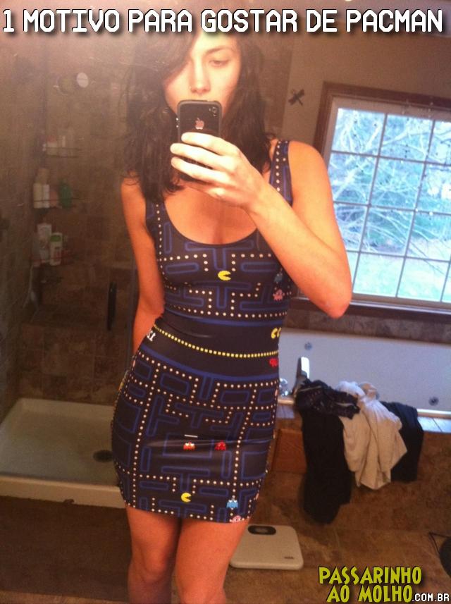 pacman, gostosa de vestido
