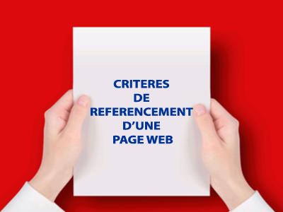 critères de référencement d'une page web