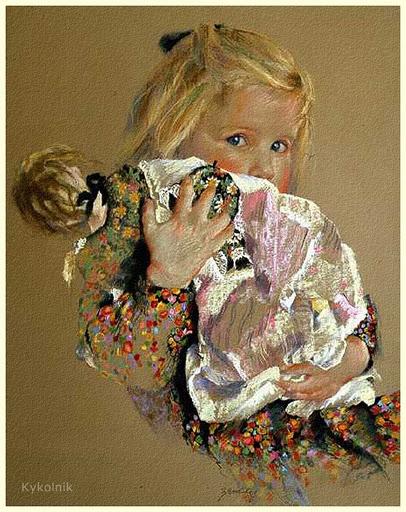 Картины с девочками своими руками 681