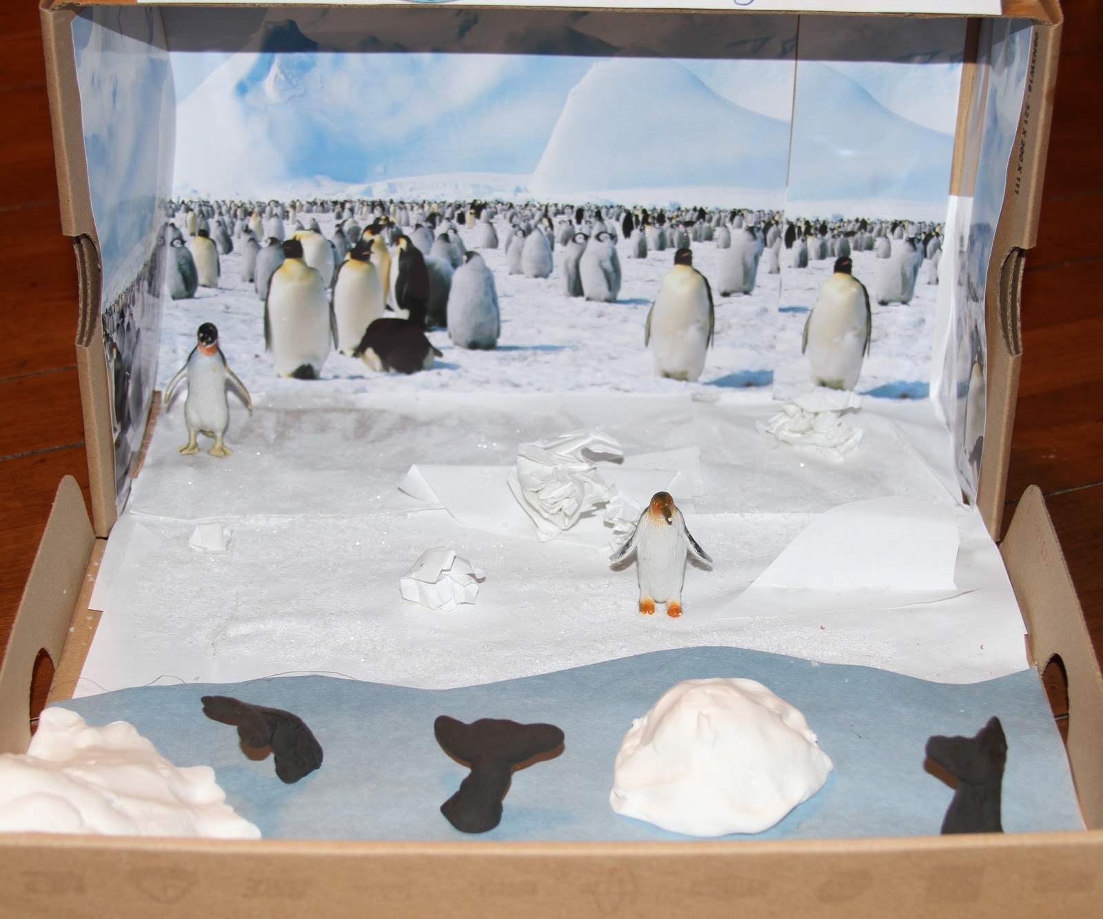 Elementary Habitat Shoe Box Project http://losingsleepcountingsheep.blogspot.com/2013/02/popularity-of-penguins.html