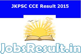 JKPSC CCE Result 2015