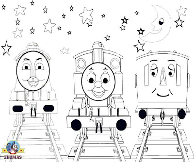 Annie big Gordon the tank engine Thomas the train coloring pictures for kids to print out and color