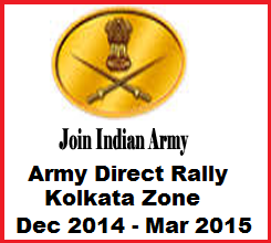 Upcoming Indian Army Direct/Open Soldier Recruitment Rally in West Bengal & Odisha From November 2014 to March 2015