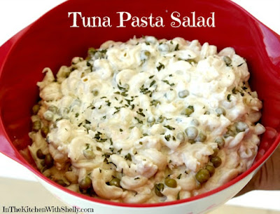 Shakin bakin foodie blog easy tuna pasta salad recipe for Macaroni salad with tuna fish