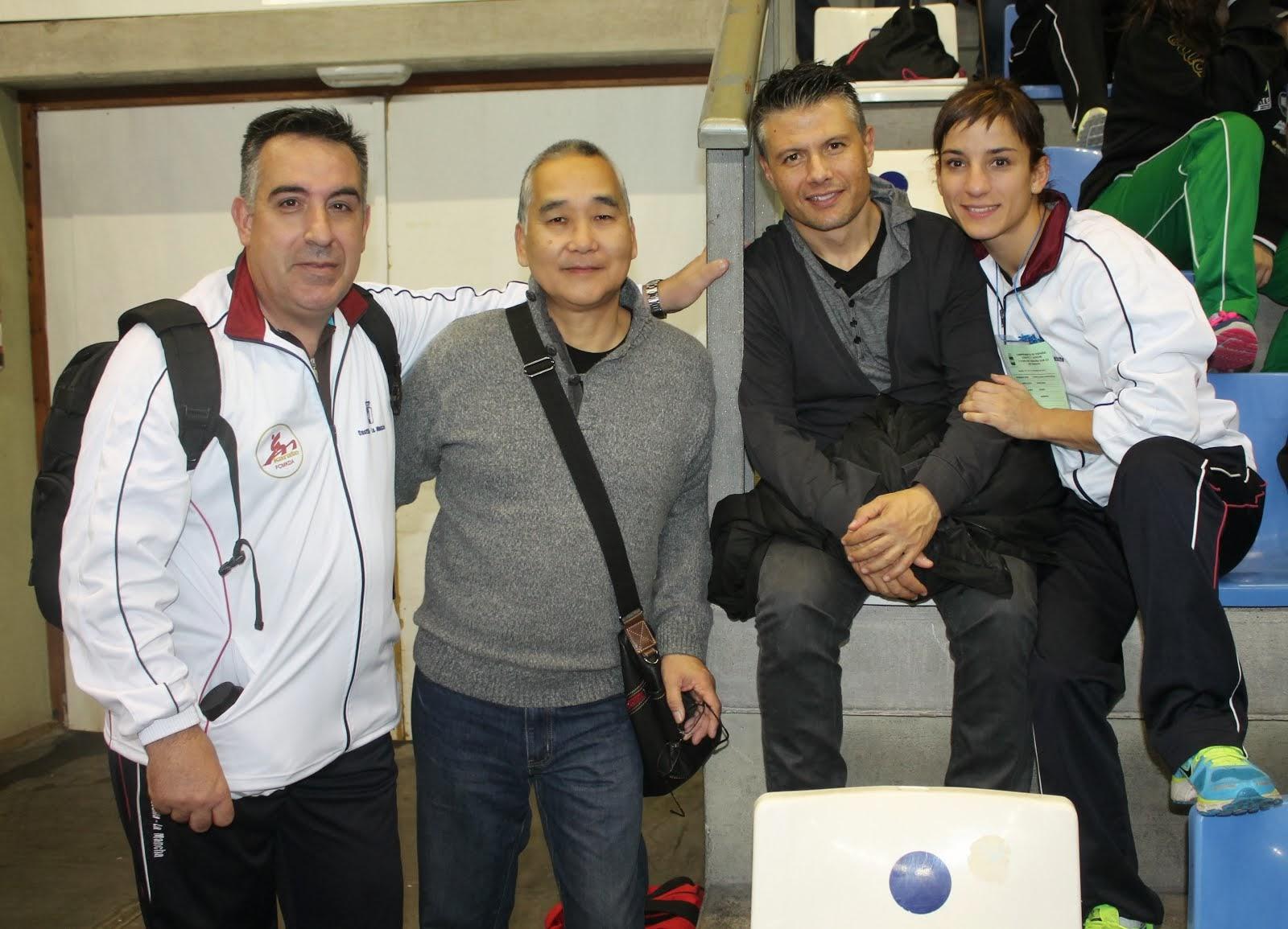 Antonio, Akio, Jesús y Sandra