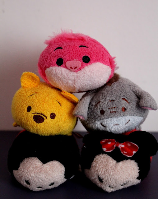 Tsumtsum Mickey Minnie Winnie Bouriquet Chat du Cheshire