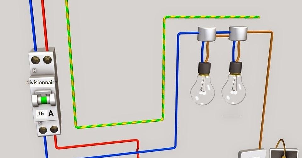 schema electrique sch ma de cablage lectrique va et vient deux lampes. Black Bedroom Furniture Sets. Home Design Ideas