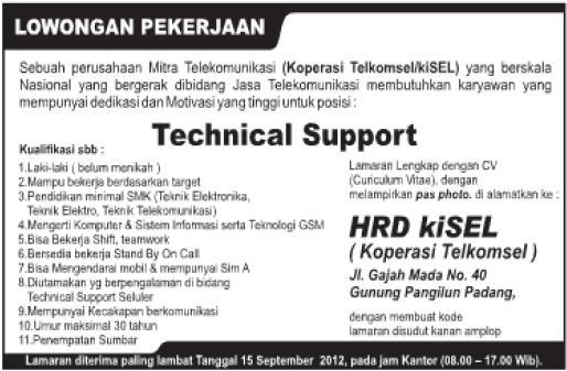 PT.Kisel Indonesia (Padang) ~ Akses Kerja