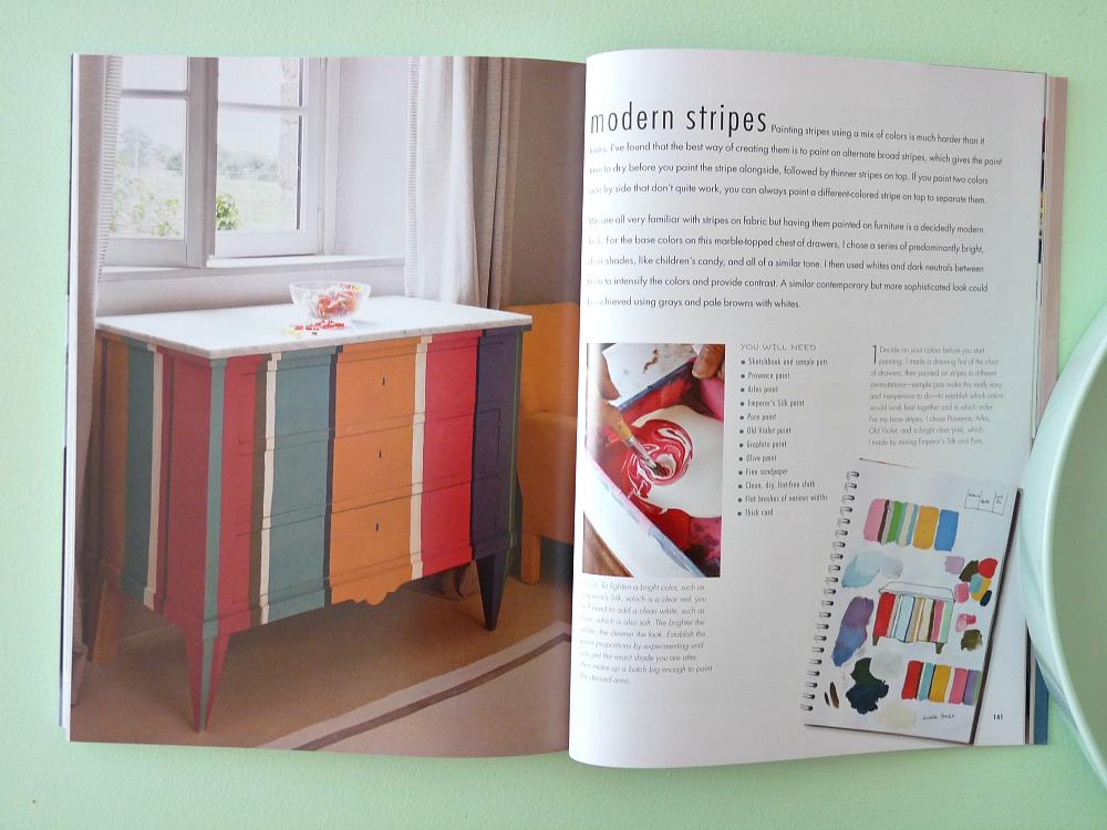 Superbe Striped Chalk Paint Dresser ...