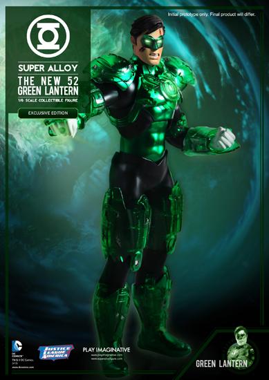 DC & Marvel Action Figures PLAY_IMAGINATIVE_SUPER_ALLOY_1-6_SCALE_DC_COMICS_NEW_52_GREEN_LANTERN_02