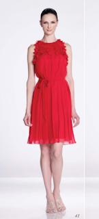 Vestido rojo con fleco