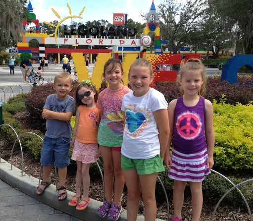 Hanging with my Cousins at Lego Land  Florida