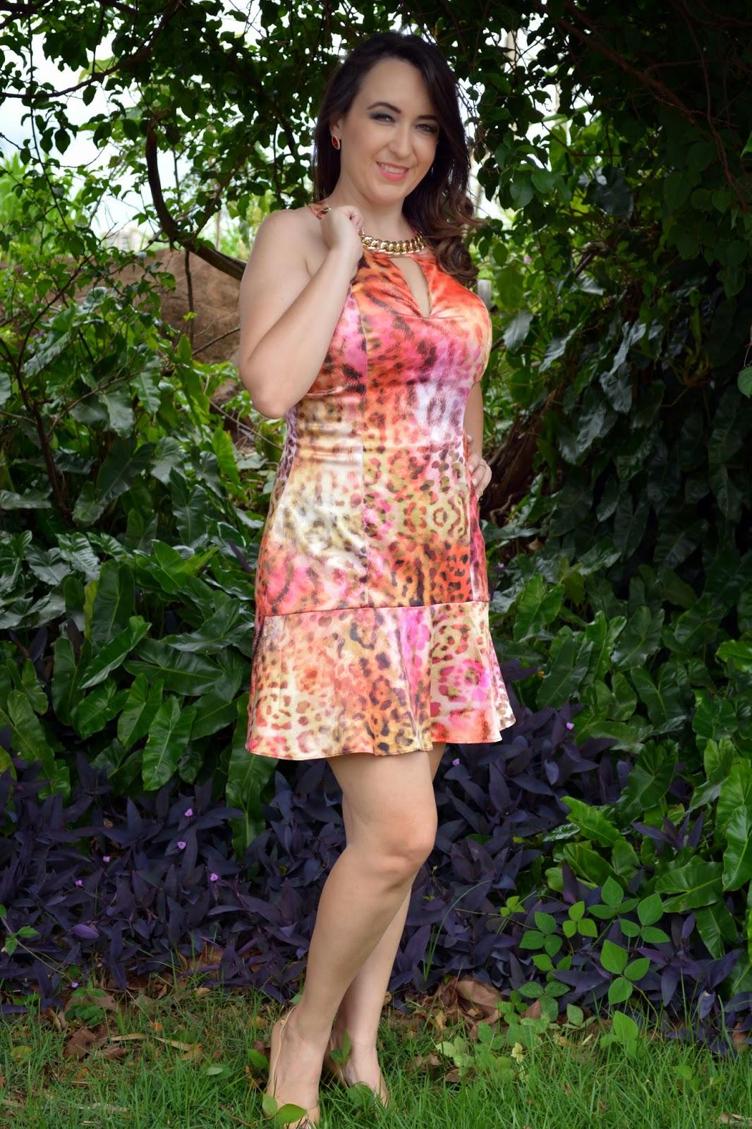 look do dia, vestido estampado, vestido tigrara, tigrara, blog de moda em ribeirão preto, blog camila andrade, fashion blogger, fashion blogger em ribeirão preto, pamela zanandrea