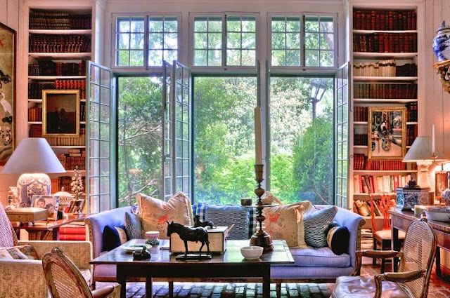 large family room layout built in bookcases